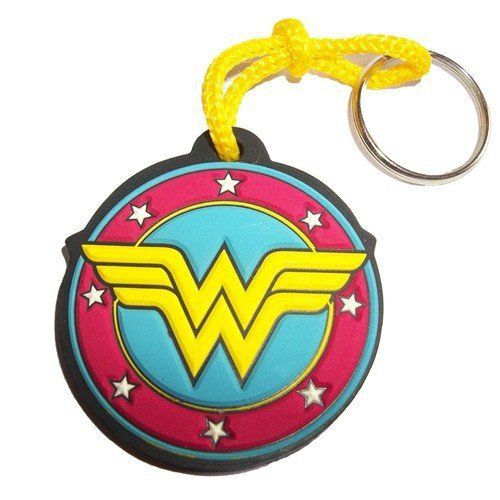 Chaveiro de Borracha Escudo Wonder Woman (Mulher Maravilha)