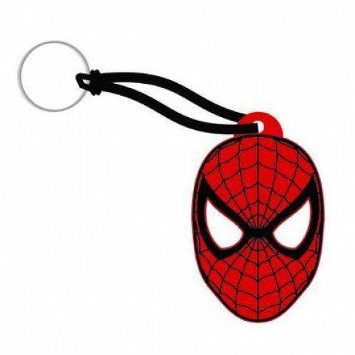 Chaveiro de Borracha Face Homem-Aranha (Spider Man)