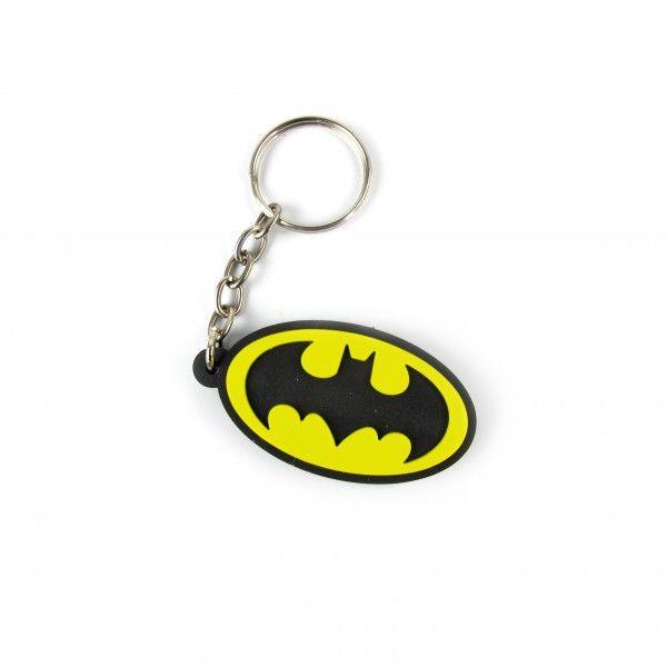 Chaveiro de Borracha Logo Batman: DC Comics  - Fábrica Geek