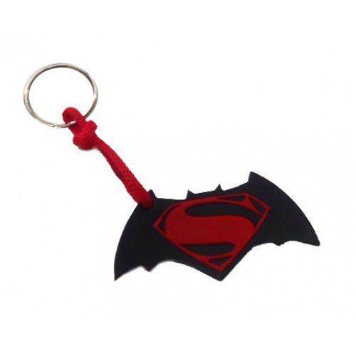 Chaveiro de Borracha Logo Batman Vs Superman