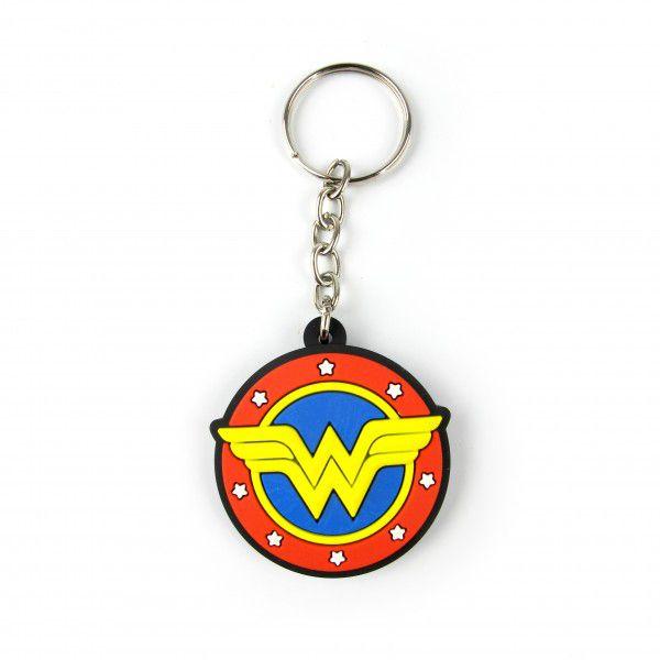 Chaveiro de Borracha Logo Mulher-Maravilha (Wonder Woman):  DC Comics