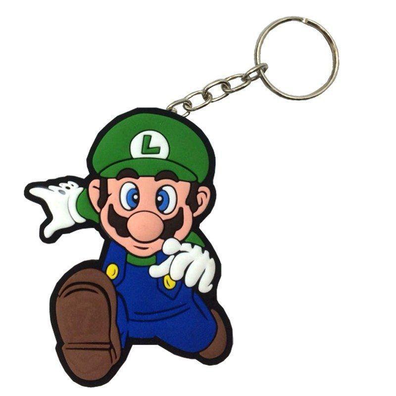 Chaveiro de Borracha Luigi: Super Mario Bros