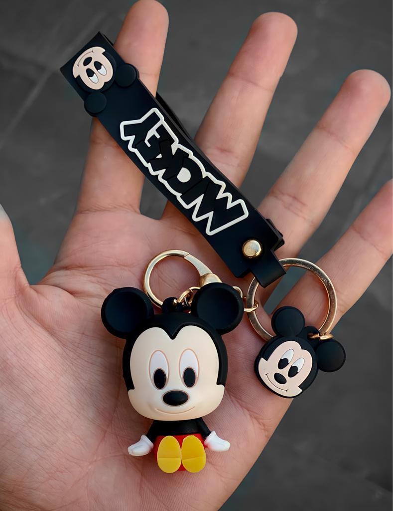 Chaveiro de Borracha Mickey Mouse: Mickey e Minnie Mouse Disney