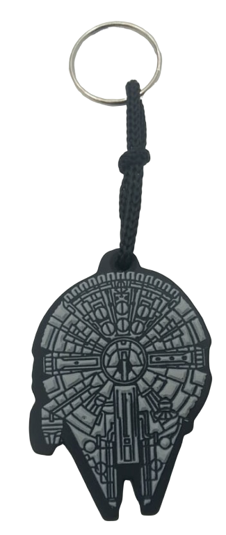 Chaveiro de borracha Millennium Falcon: Guerra nas Estrelas (Star Wars)