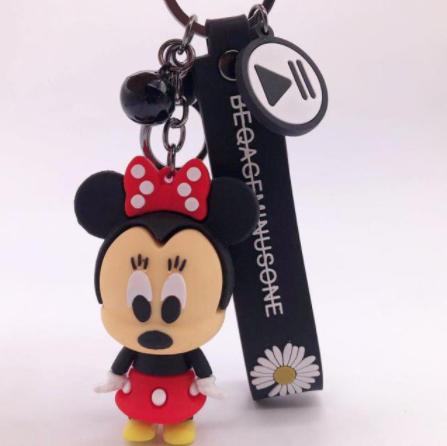 Chaveiro de Borracha Minnie Mouse: Mickey e Minnie Mouse Disney - EVALI