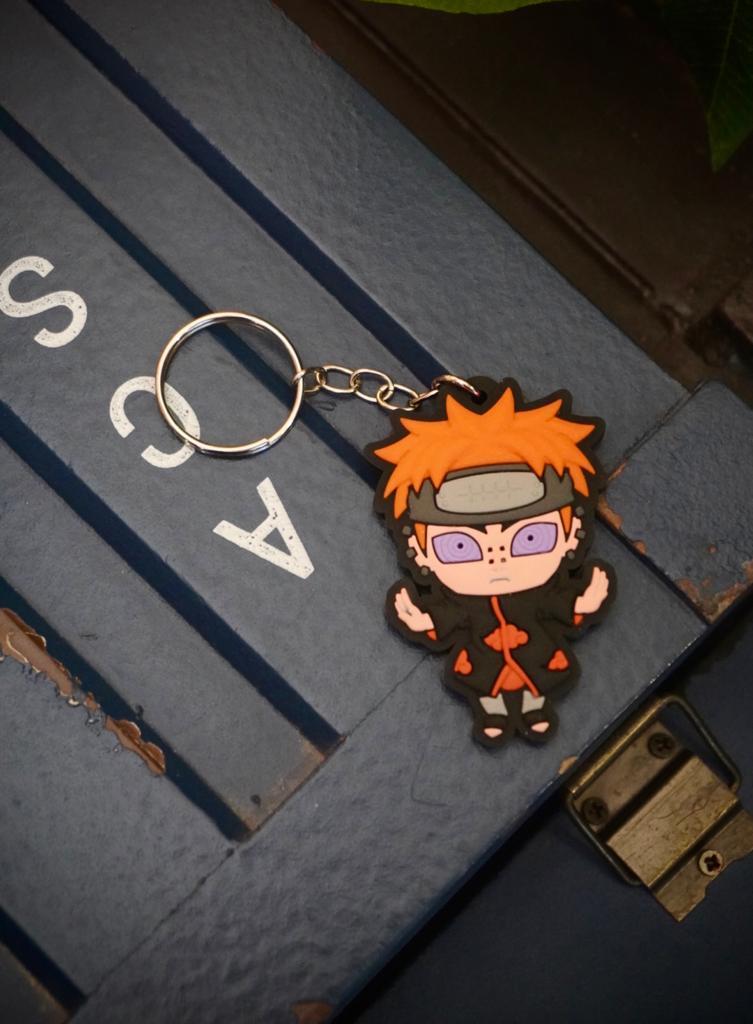 Chaveiro de Borracha Pain Nagato Akatsuki: Naruto - EV