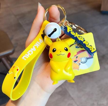 Chaveiro de Borracha Pikachu: Pokémon Anime Mangá
