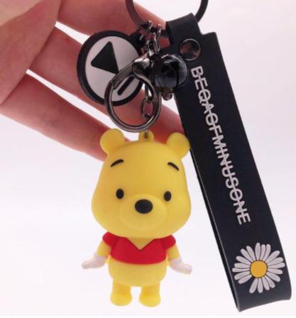 Chaveiro de Borracha Pooh: O Ursinho Pooh Disney - EVALI