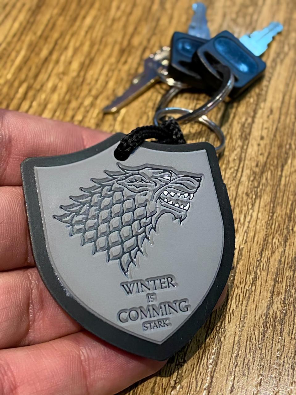Chaveiro de Borracha Stark: Game of Thrones