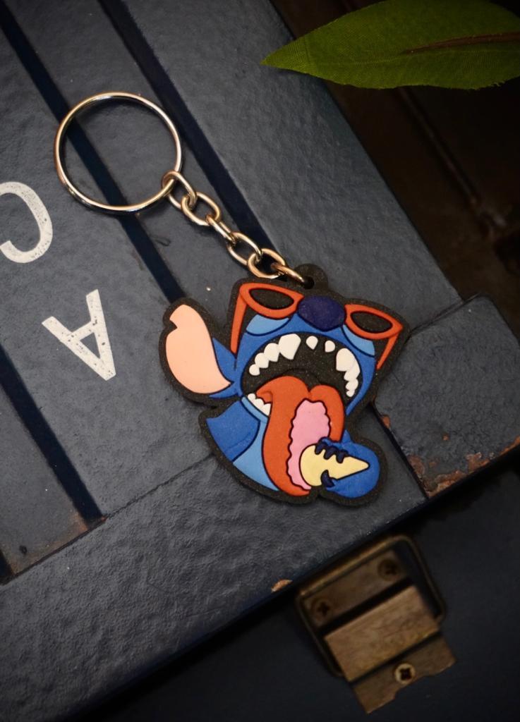 Chaveiro de Borracha Stitch Sorvete: Lilo e Stich - Disney