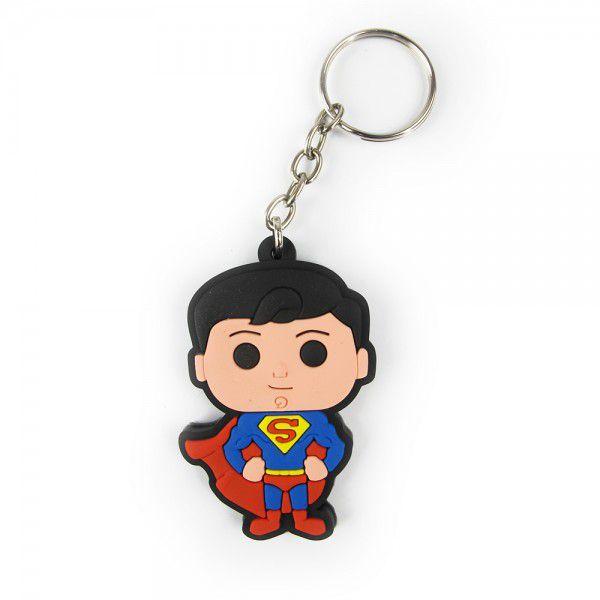 Chaveiro de Borracha Super-Homem: Dc Comics