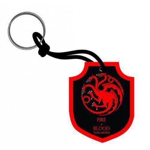 Chaveiro de Borracha Targaryen: Game of Thrones