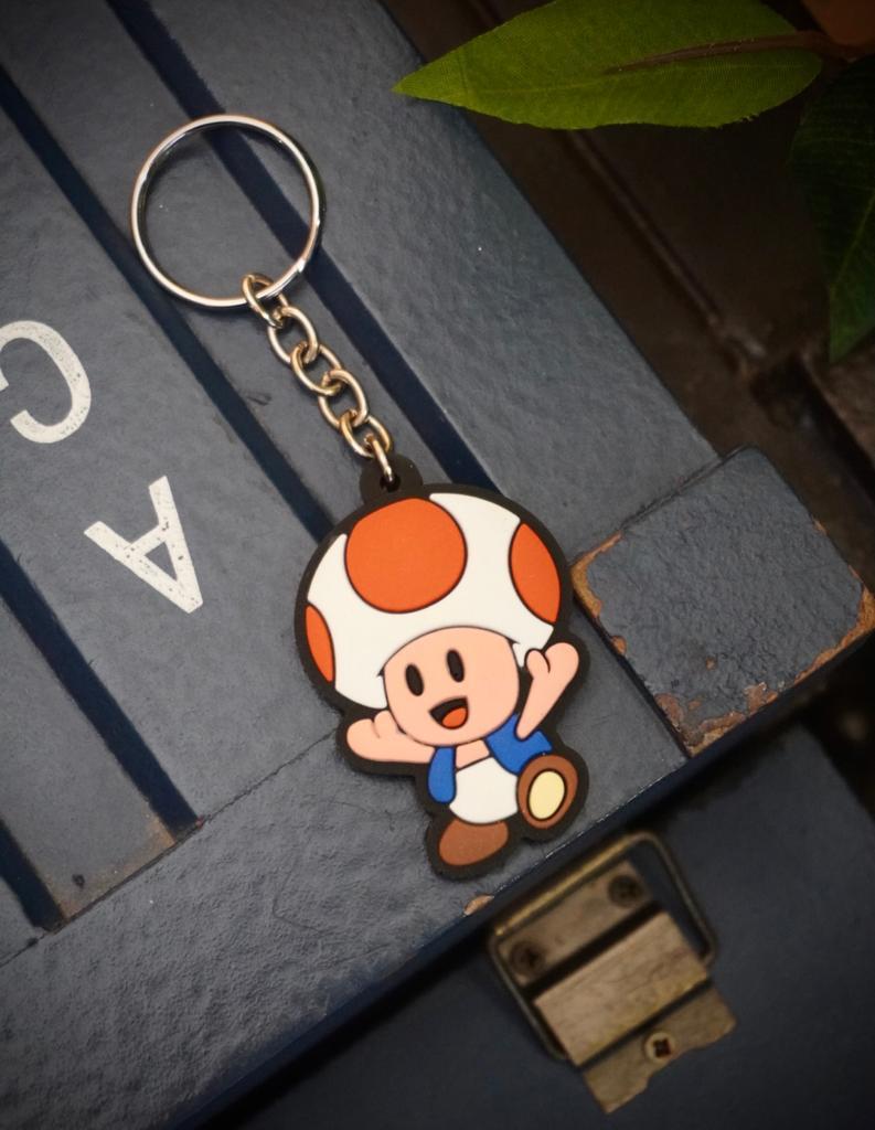 Chaveiro de Borracha Toad: Super Mario Bros