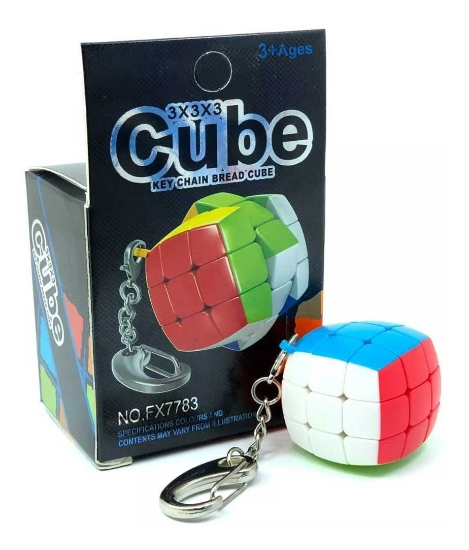 Chaveiro de Cubo Mágico 3x3X3 (FX7783) - Fanxin