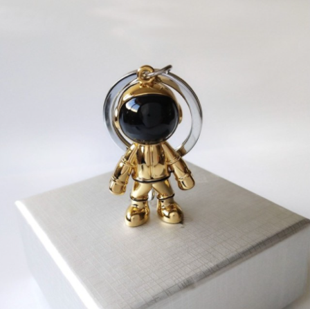Chaveiro de Metal Astronauta Spaceman (Dourado) - EVALI