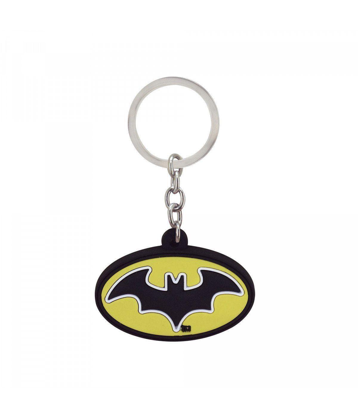 Chaveiro Emborrachado Símbolo Batman : Liga da Justiça