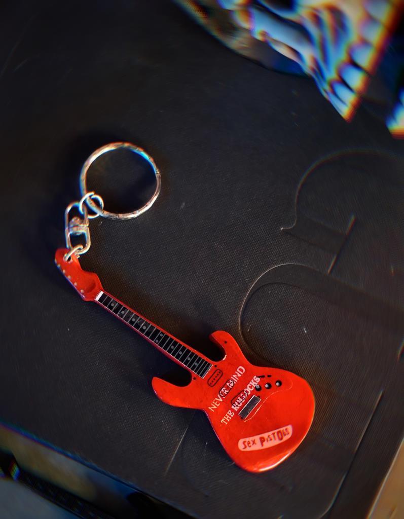 Chaveiro Guitarra Sex Pistols Led Zeppelin: Rock and Roll
