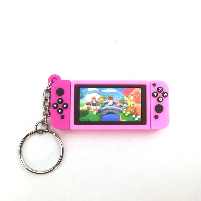 Chaveiro Keychain Nintendo Switch Animal Crossing New Horizons Rosa - EVALI