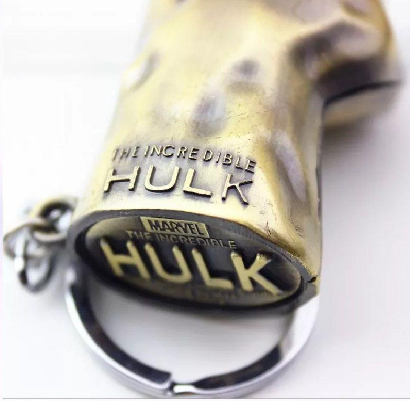 Chaveiro Mão Hulk (Dourado): Vingadores (Avengers)
