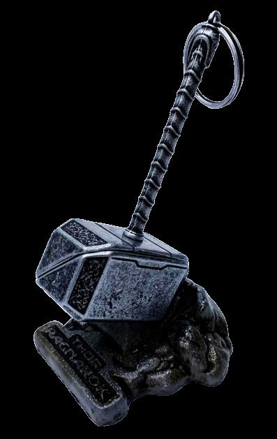 Chaveiro Martelo do Thor Com Base: Thor Ragnarok
