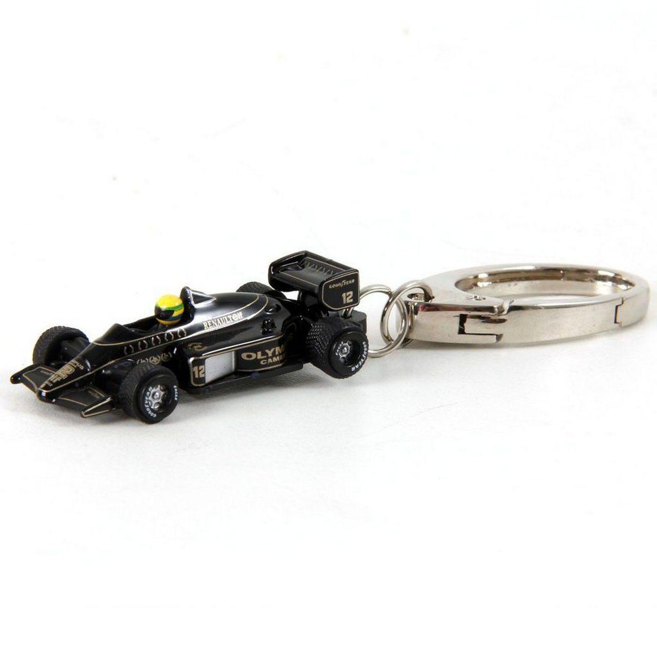 Chaveiro Miniatura Lotus (Preto) Ayrton Senna: Formula 1  - Premium Collectibles