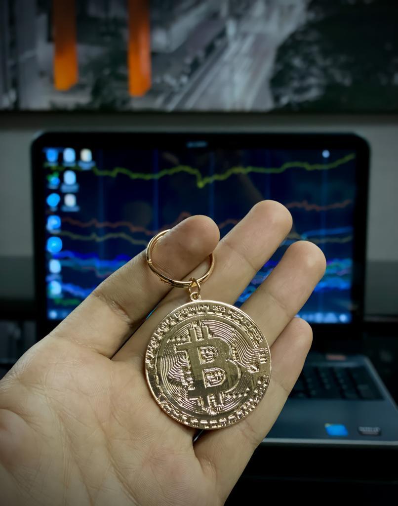 Chaveiro Moeda Criptomoedas Trader Bitcoin