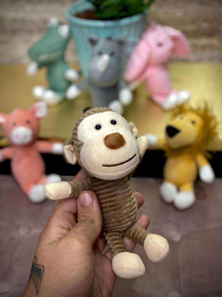 Chaveiro Pelucia Safari: Macaco