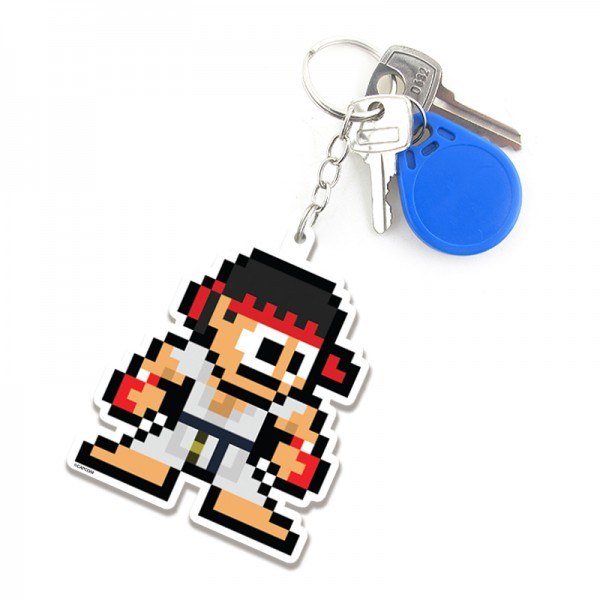 Chaveiro Ryu 8-Bit - Fábrica Geek