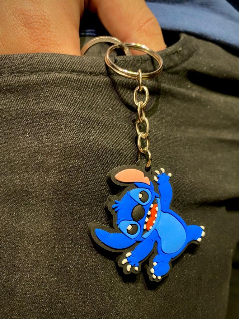 Chaveiro Stitch: Lilo e Stitch (Alegre)