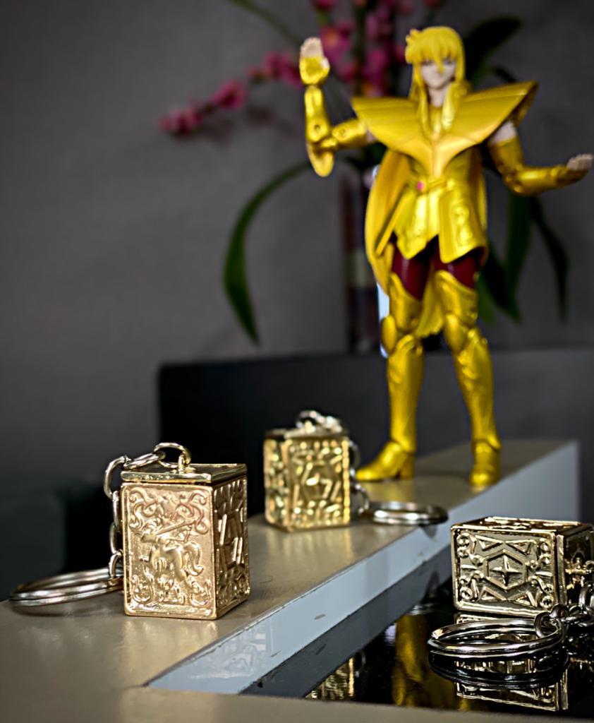 Chaveiro Urna Armadura De Sagitário: Os Cavaleiros do Zodíaco
