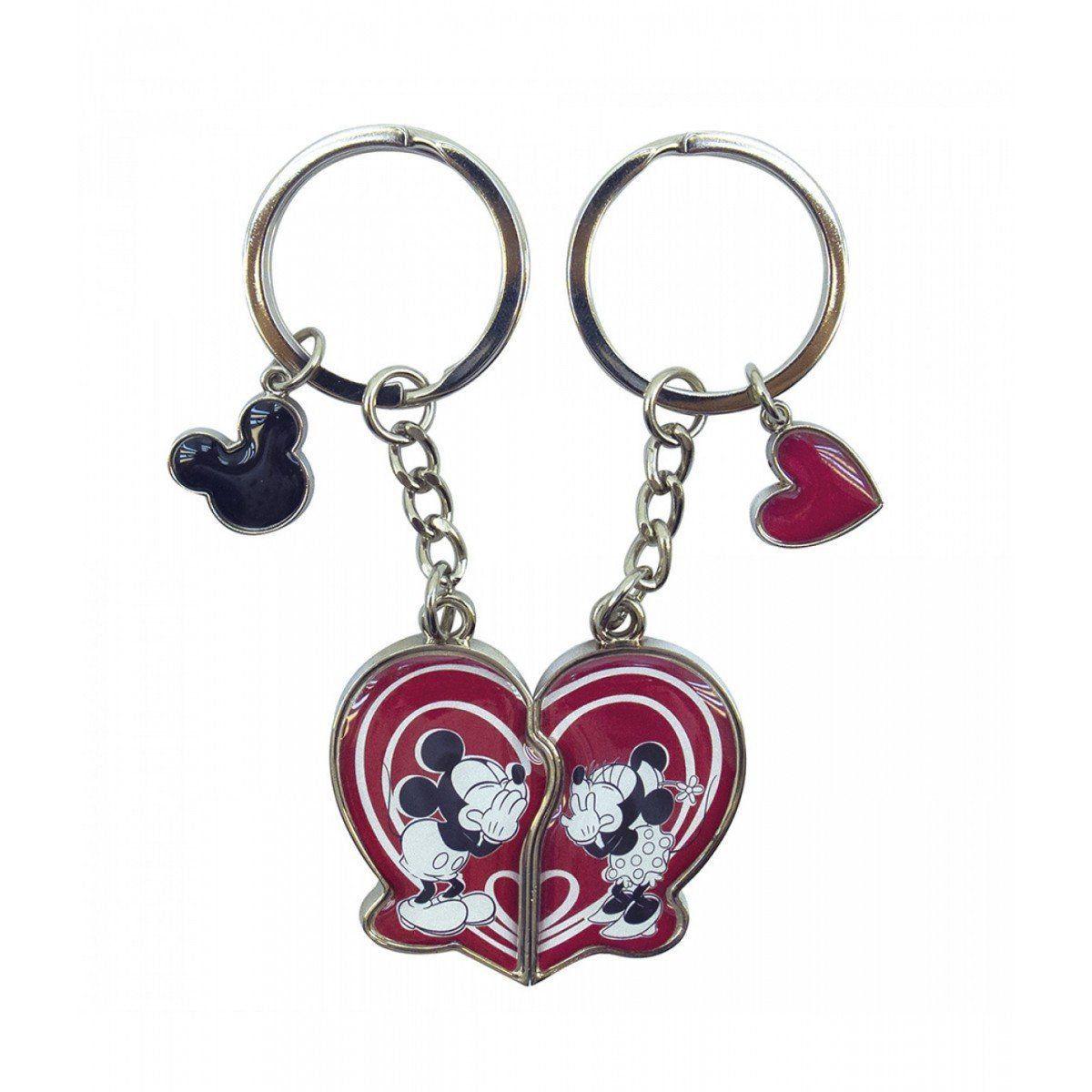 Chaveiros Mickey & Minnie: Coração - Disney