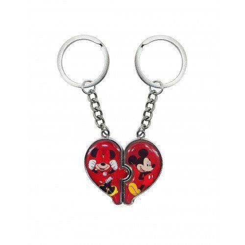 Chaveiros Mickey e Minnie Coração - Disney