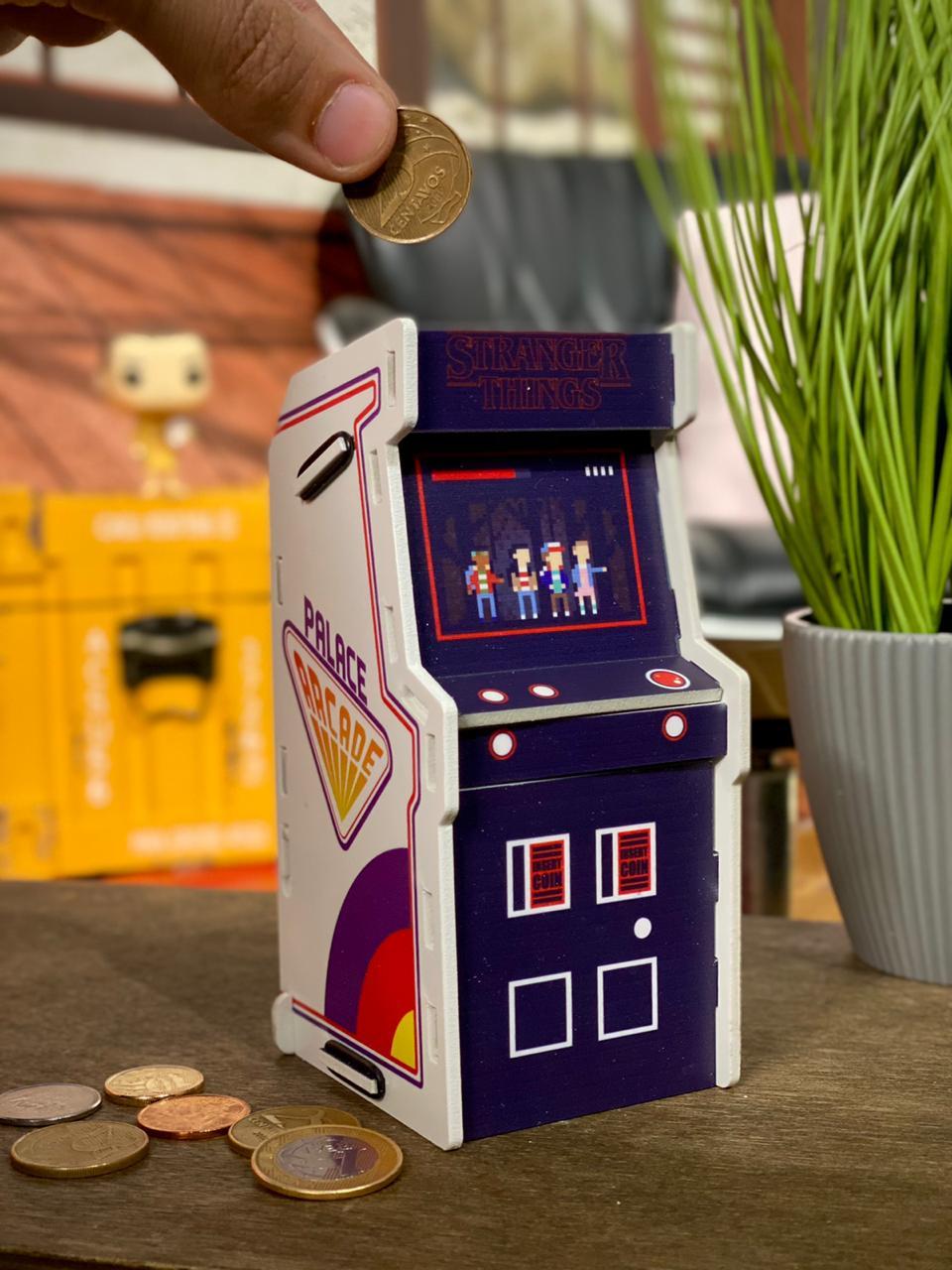 Cofre Arcade (Fliperama): Stranger Things