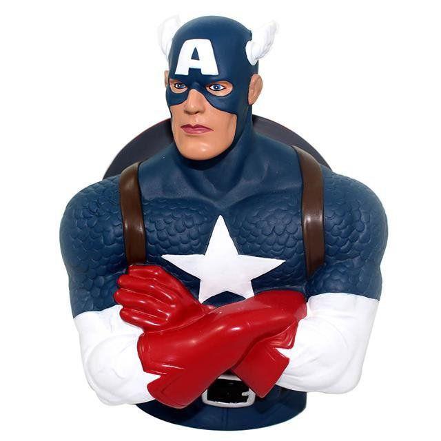 Cofre Busto Capitão América - Zona Criativa