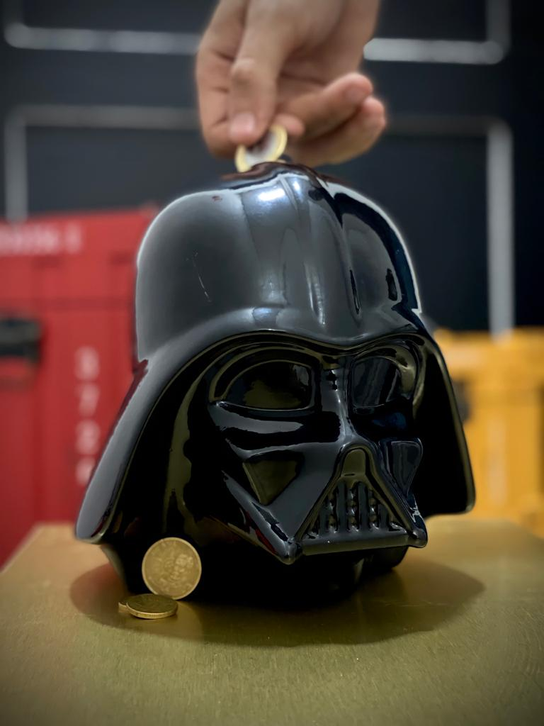 Cofre Cabeça Darth Vader: Star Wars 3D Ceramic Bank