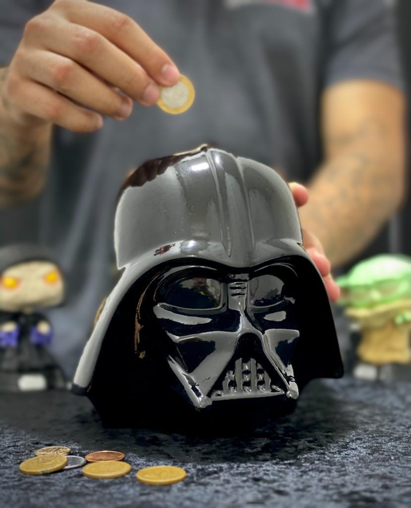 Cofre Cabeça Darth Vader: Star Wars 3D Ceramic Bank