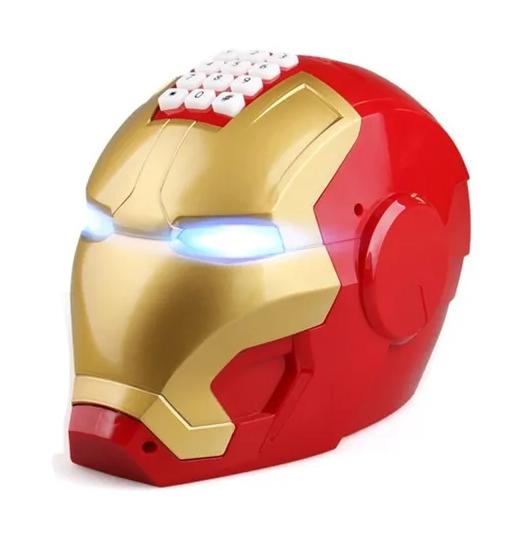 Cofre Capacete Homem de Ferro Iron Man: Vingadores Avengers com Senha de Segurança - EVALI