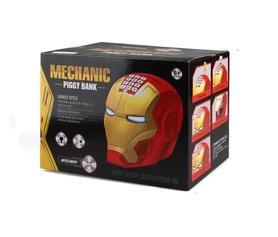 Cofre Capacete Homem de Ferro Iron Man: Vingadores Avengers com Senha de Segurança - MKP