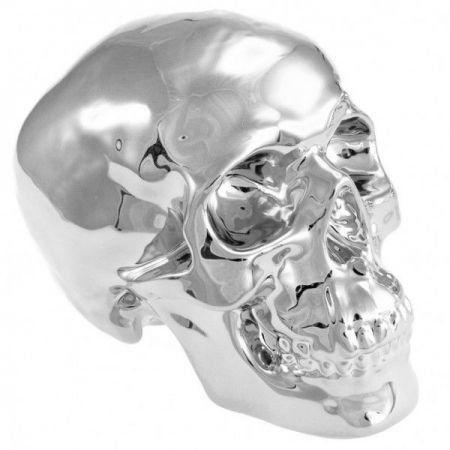 Cofre Caveira Skull Prateada