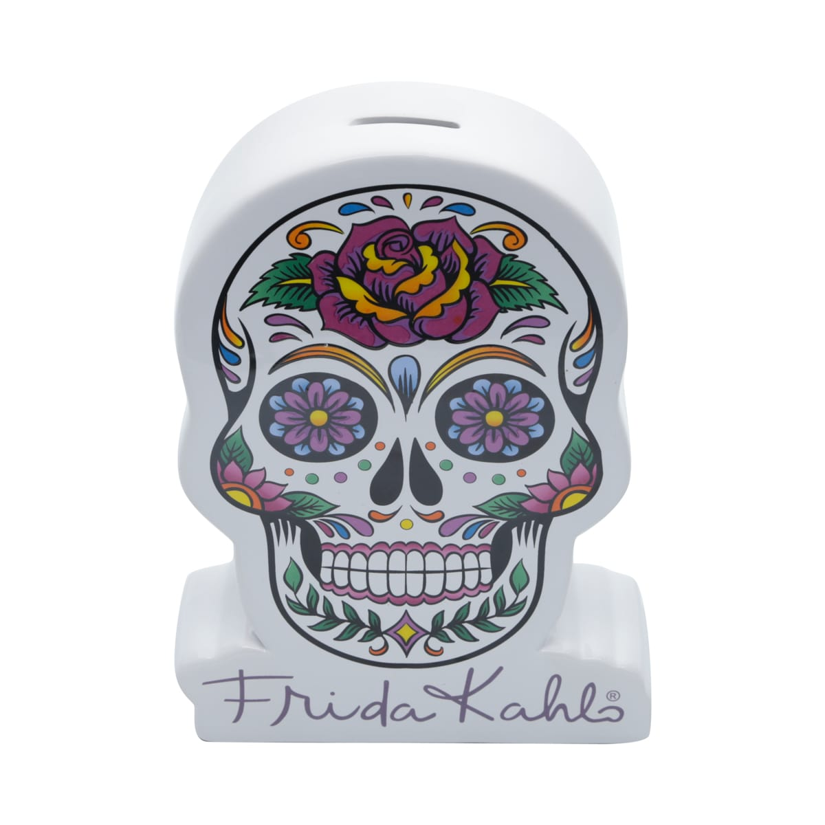 Cofre de Cerâmica Caveira Mexicana: Frida Kahlo - URBAN