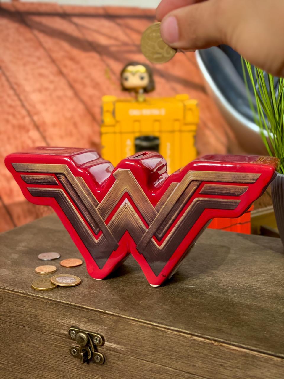 Cofre de Cerâmica Logo Mulher-Maravilha (Wonder Woman): DC - URBAN