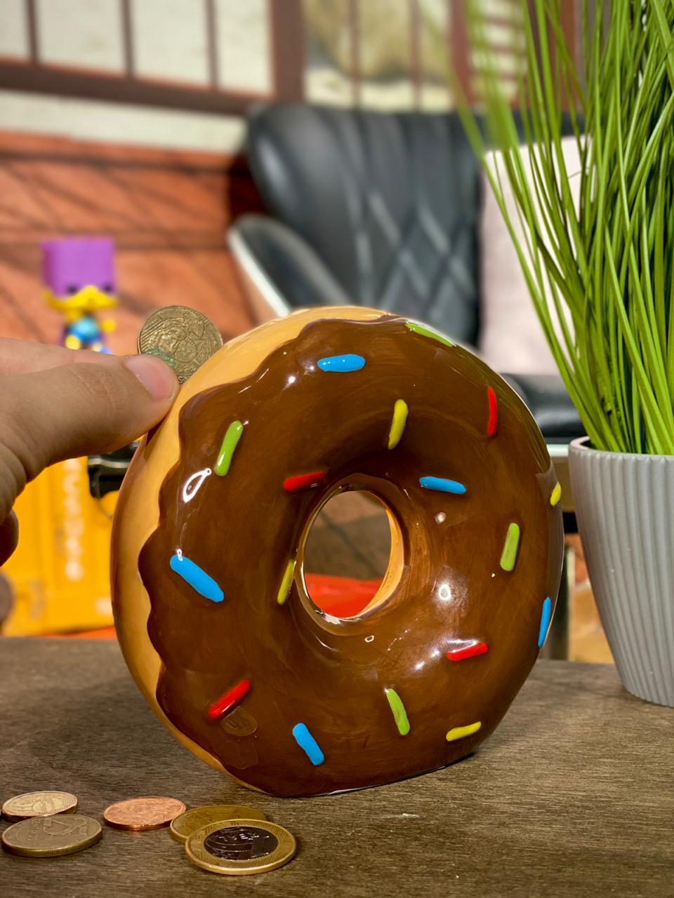 Cofre de Porcelana Donut (Marrom)