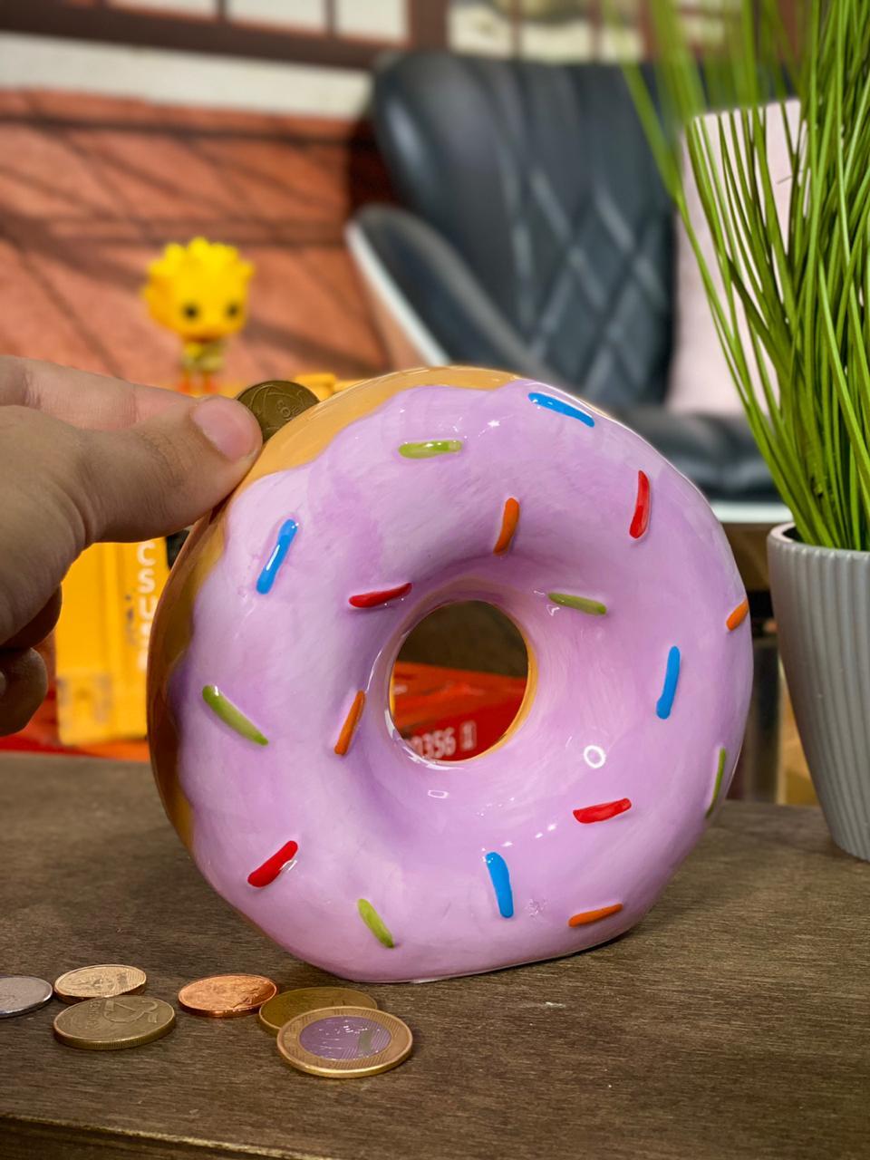 Cofre de Porcelana Donut (Rosa)