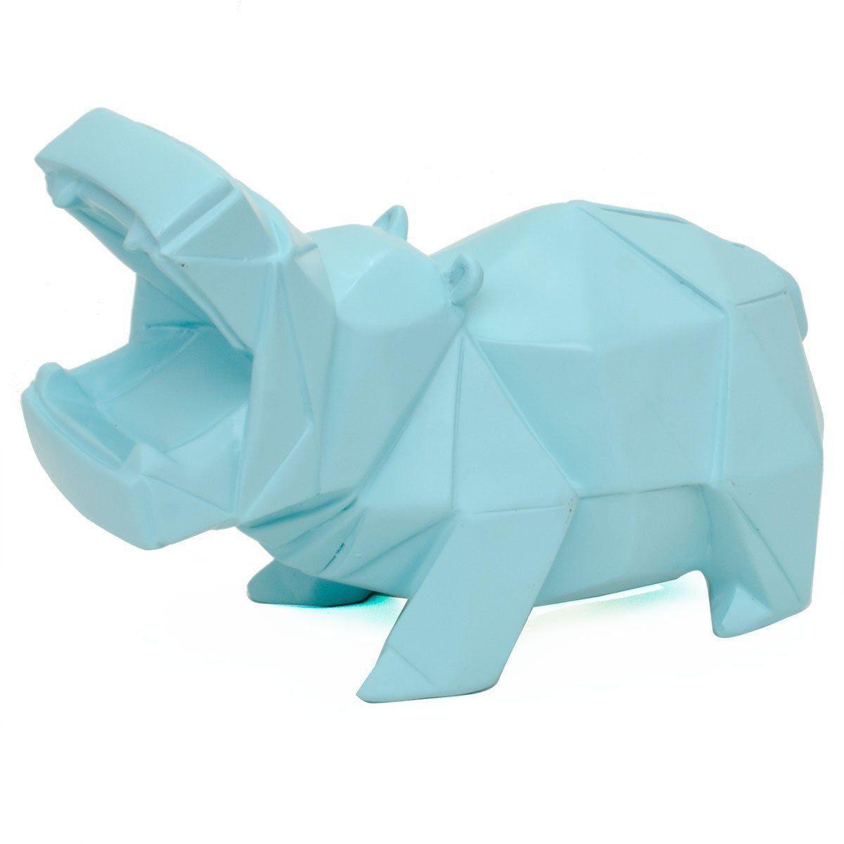 Cofre Origami Hipopótamo (Azul)