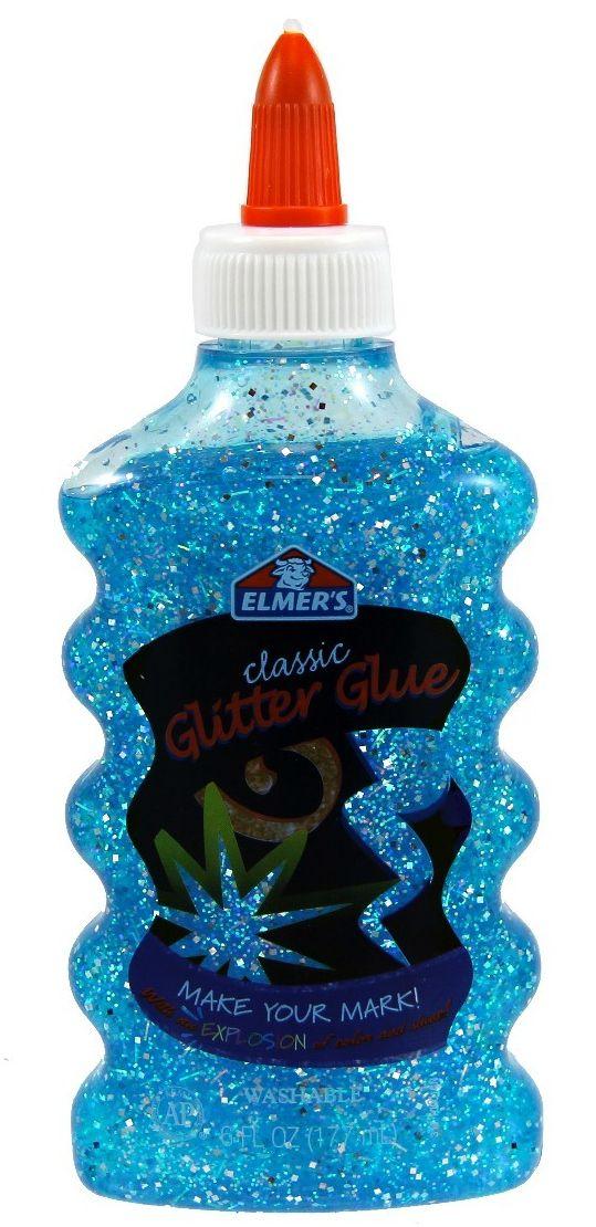 Cola Glitter Para Slime (Azul) 177ml - Elmers