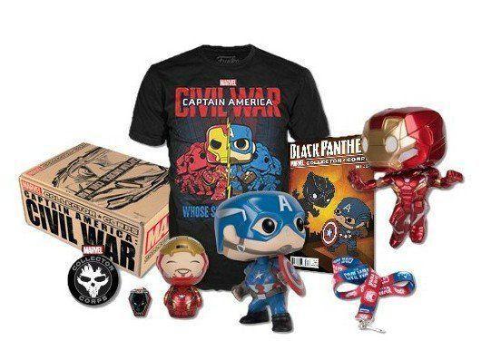 Funko Kit Exclusivo Pop Funko: Collector Corps Marvel - Captain America Civil War - Funko