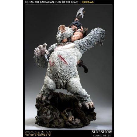 Estátua Conan the Barbarian: Fury of the Beast Diorama - Sideshow