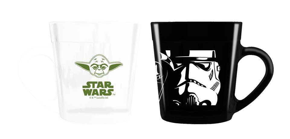 Conjunto Canecas Star Wars: Darth Vader e Yoda - NF