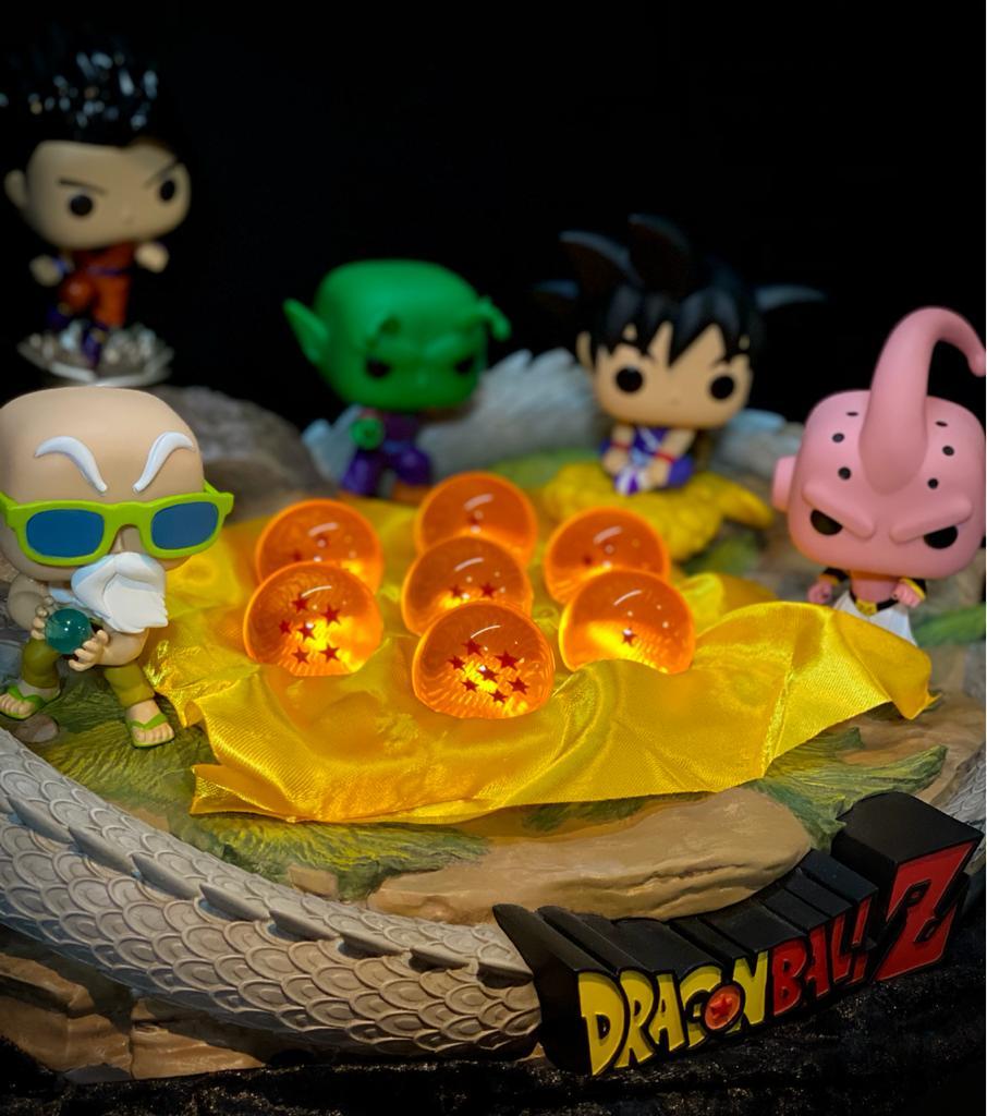Conjunto com 7 Esferas do Dragão Pequeno (4,5 cm)