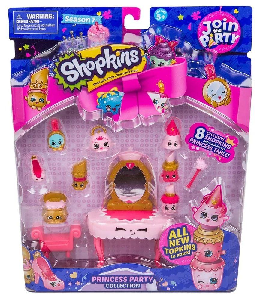 Conjunto com 8 Shopkins: Coleção Festa da Princesa (Super Festa) - DTC